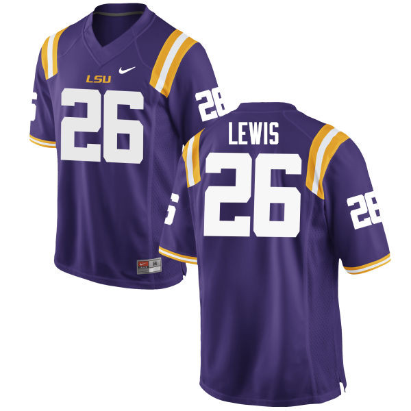 Men #26 Adam Lewis LSU Tigers College Football Jerseys Sale-Purple