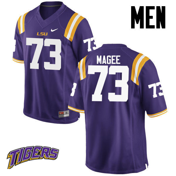 Men's #73 Adrian Magee LSU Tigers College Football Jerseys-Purple