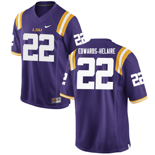 Men #22 Clyde Edwards-Helaire LSU Tigers College Football Jerseys Sale-Purple