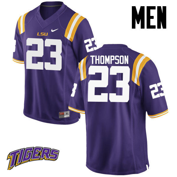 Men's #23 Corey Thompson LSU Tigers College Football Jerseys-Purple