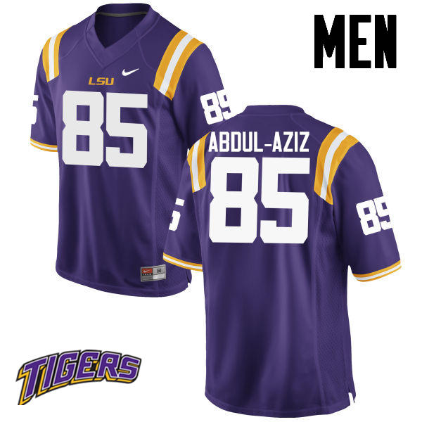 Men's #85 Jamil Abdul-Aziz LSU Tigers College Football Jerseys-Purple